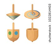 dreidel four sided spinning top ... | Shutterstock .eps vector #1022814403