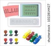 electrocardiography ecg or ekg... | Shutterstock .eps vector #1022814427