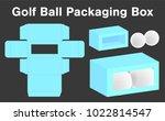 golf ball box package template... | Shutterstock .eps vector #1022814547