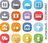flat vector icon set   wc... | Shutterstock .eps vector #1022814883