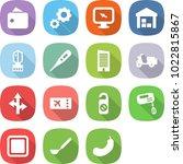 flat vector icon set   wallet... | Shutterstock .eps vector #1022815867