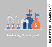 fund raising  financial growth  ... | Shutterstock .eps vector #1022816377