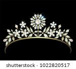 gold diadem decorated with...   Shutterstock .eps vector #1022820517