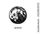 moon image on white background. ...   Shutterstock .eps vector #1022823523