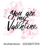 you are my valentine. i heart... | Shutterstock .eps vector #1022837293
