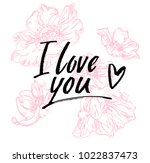 i love you. i heart you.... | Shutterstock .eps vector #1022837473