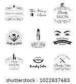 beauty salon design elements in ... | Shutterstock .eps vector #1022837683