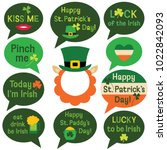 st. patricks day vector speech... | Shutterstock .eps vector #1022842093