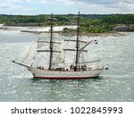 aland islands  finland   july... | Shutterstock . vector #1022845993