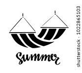 hammock logo. summer... | Shutterstock .eps vector #1022865103