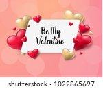 2018 valentine's day background ... | Shutterstock .eps vector #1022865697