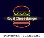 royal cheeseburger cafe bright...   Shutterstock .eps vector #1022873257
