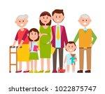 family poster of happy members  ... | Shutterstock .eps vector #1022875747