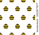 bee pattern seamless repeat in... | Shutterstock .eps vector #1022877877