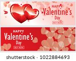 happy valentine  s day and ... | Shutterstock .eps vector #1022884693