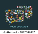 travel icons are grouped in... | Shutterstock .eps vector #1022884867