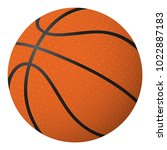 basketball ball isolated object ... | Shutterstock .eps vector #1022887183