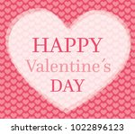 valentines day card with hearts ... | Shutterstock .eps vector #1022896123