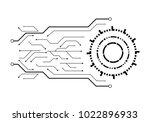circuit illustration design... | Shutterstock .eps vector #1022896933