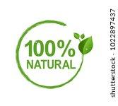 100  natural logo symbol...   Shutterstock .eps vector #1022897437