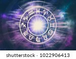 zodiac signs inside of... | Shutterstock . vector #1022906413
