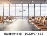 clean airport waiting area... | Shutterstock . vector #1022914663