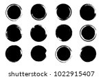 grunge post stamp set  circles. ... | Shutterstock .eps vector #1022915407