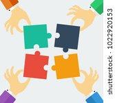 puzzle vector illustration.... | Shutterstock .eps vector #1022920153