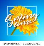 gerbera flower background and... | Shutterstock .eps vector #1022922763