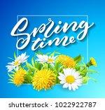 inscription spring time on... | Shutterstock .eps vector #1022922787