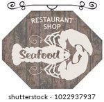 vector street signboard or... | Shutterstock .eps vector #1022937937