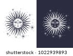 the face of the sun and the... | Shutterstock .eps vector #1022939893