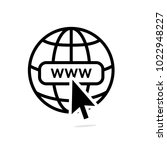 www internet icon favicon with... | Shutterstock .eps vector #1022948227