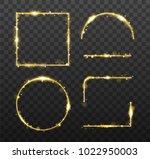 golden glowing frames and... | Shutterstock .eps vector #1022950003