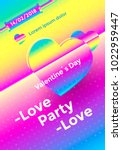 valentines day poster with... | Shutterstock .eps vector #1022959447