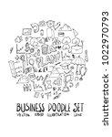 business doodle illustration... | Shutterstock .eps vector #1022970793