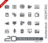 Multimedia Icons // Basics - stock vector