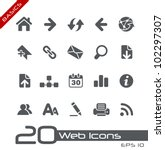 web icons    basics | Shutterstock .eps vector #102297307