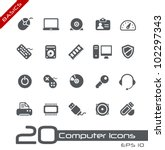 Computer Icons // Basics - stock vector