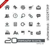 Website Icons // Basics - stock vector