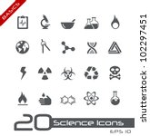 Science Icons // Basics - stock vector