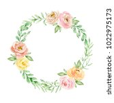 watercolor composition of... | Shutterstock . vector #1022975173