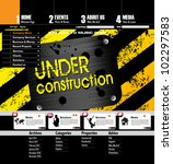 web site page template | Shutterstock .eps vector #102297583
