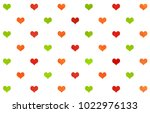 watercolor red  green and... | Shutterstock . vector #1022976133