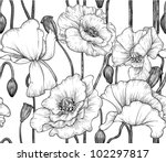 Seamless Pattern Of Black And...