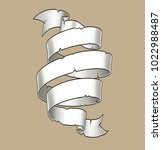 vector illustration of engraved ... | Shutterstock .eps vector #1022988487