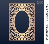 laser cut paper lace frame ... | Shutterstock .eps vector #1022995753
