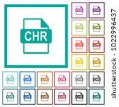 chr file format flat color... | Shutterstock .eps vector #1022996437