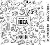 business idea and business plan ... | Shutterstock .eps vector #1023004867