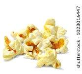 tasty popcorn. elements for... | Shutterstock .eps vector #1023016447